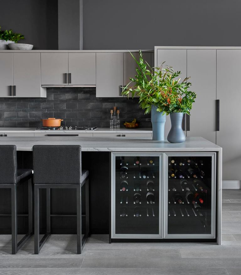 image of gorgeous gray kitchen design as cover image for kitchen design ideas and remodeling