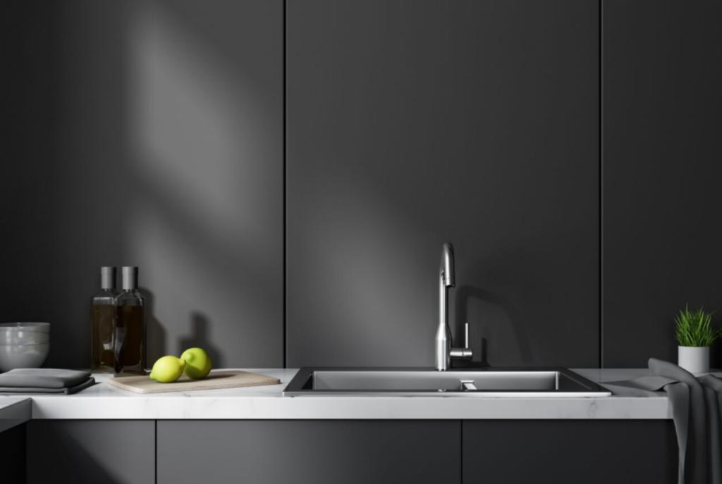 matte black kitchen cabinet color