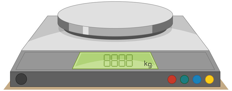 vector illustration image of measurement scale